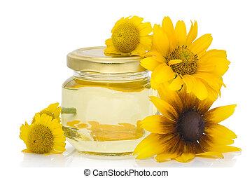 menstruáció, kozmetikai, sárga, olaj