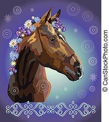 menstruáció, ló, 36, portré