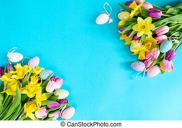 menstruáció, nárciszok, tulipánok