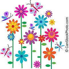 menstruáció, tavasz, pillangók