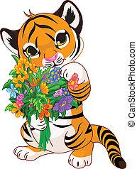 menstruáció, tigris cub, csinos