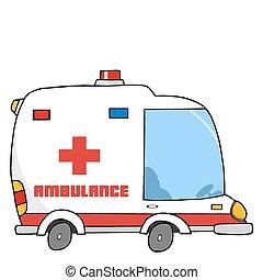 mentőautó, jármű
