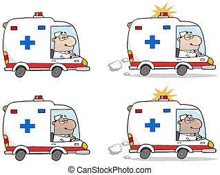 mentőautó, orvos, vezetés