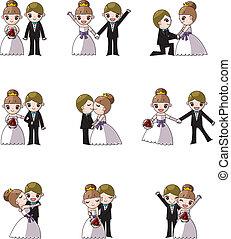 menyasszony, állhatatos, esküvő