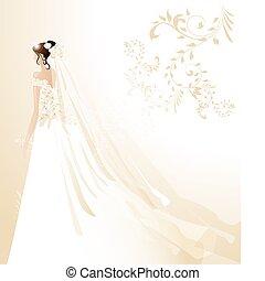 menyasszony, gyönyörű
