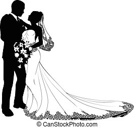 menyasszony, lovász, árnykép