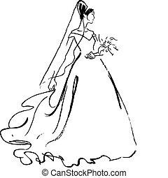 menyasszony, rajz