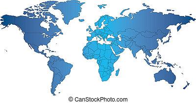 mercator, világ, országok, térkép