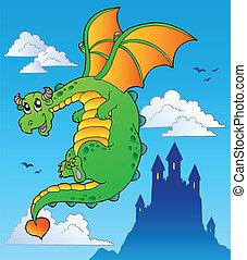 mese, bástya, repülés, tündér, sárkány