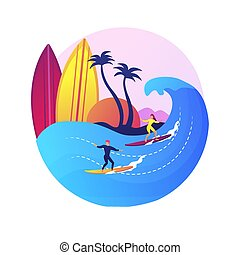 metafora, fogalom, szörfözás, vektor, izbogis
