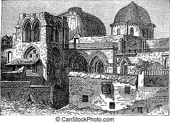 metszés, izrael, jámbor, síremlék, szüret, templom, feltámadás, jeruzsálem, vagy