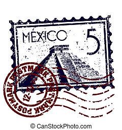 mexikó, ábra, elszigetelt, ikon, vektor, egyedülálló