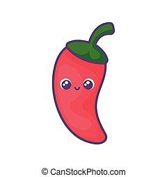 mexikói, fehér, peppers, háttér