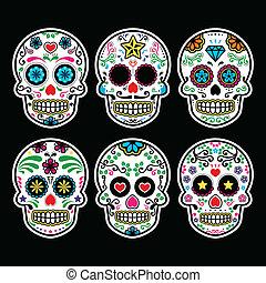 mexikói, koponya, cukor