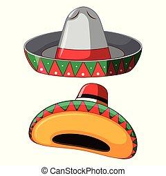mexikói, white kalap, háttér