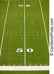 mező, amerikai futball, üres