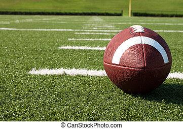 mező, amerikai futball, closeup