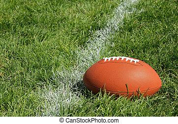 mező, amerikai futball, természetes, fű