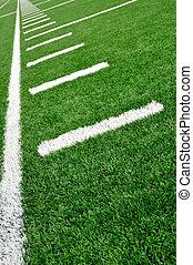 mező, amerikai, oldalvonal, labdarúgás