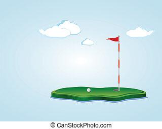 mező, golf