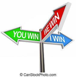mi, győz, -, minden, aláír, 3, utca, irány, winners, ön