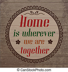 mi, toghether, fából való, ország, wherever, mód, ábra, háttér, vektor, otthon