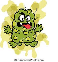 mikroba, csúnya, csíra