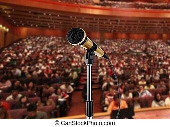 mikrofon, előszoba, szeminárium