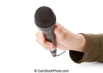 mikrofon, fekete