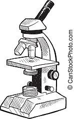 mikroszkóp, skicc