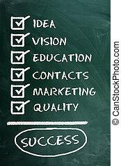 minőség, educatioa, ....=success