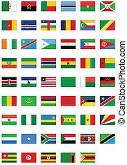 minden, állhatatos, lobogó, counties., afrikai
