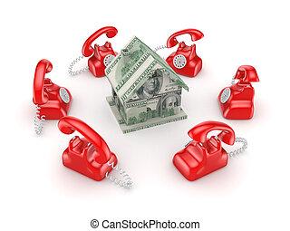 mindenfelé, szüret, house., telefon, kicsi, piros, 3