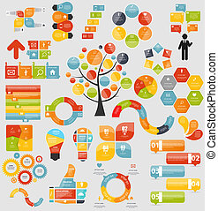 mintalécek, lakás, mega, ügy, vecto, gyűjtés, infographic