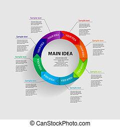 mintalécek, vektor, ábra ügy, infographic
