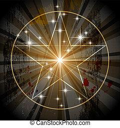 misztikus, ősi, pentagram