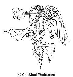 mitológiai, greek god, időjárás sebesülés, szövetek, repülés, fogalom, boreas, betű, észak, kasfogó