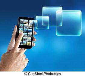 mobile telefon, alkalmazás