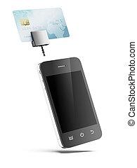 mobile telefon, kártya, hitel