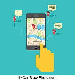 mobile telefon, szolgáltatás, gps