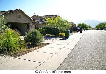 modern, klasszikus, terület, birtok, -, amerikai, arizona, otthon, új