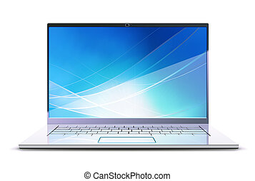 modern, laptop