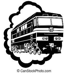 modern, lokomotív