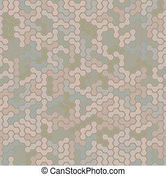 modern, pattern., seamless, camo, háttér, digitális, dezertál