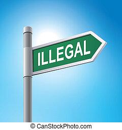 mondás, 3, illegális, út cégtábla