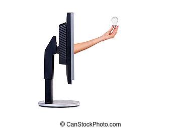 monitor., concept., számítógép