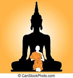 monk., buddha