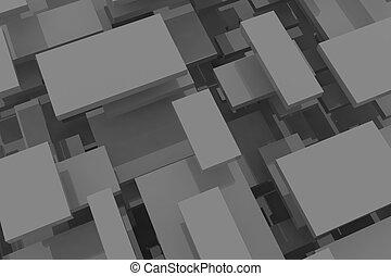 monochrom, elvont, rectangle., háttér.