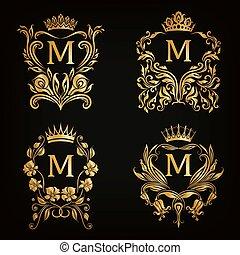 monogram, jel, állhatatos