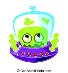 monster., csinos, színes, didergés, betű, vektor, zöld külföldi, karikatúra